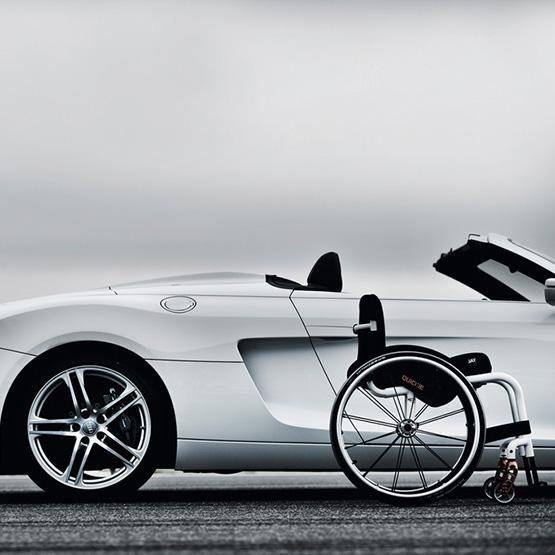 Car and Wheelchair